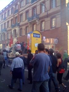 Manifestation toulousaine pour le service public - printemps 2009
